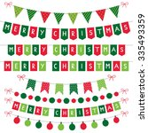 christmas vector decoration set | Shutterstock .eps vector #335493359