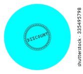 discount badge label or sticker.... | Shutterstock .eps vector #335495798
