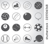 sport icons set illustration  | Shutterstock .eps vector #335506568