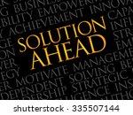 solution ahead word cloud ... | Shutterstock .eps vector #335507144