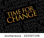 time for change word cloud ... | Shutterstock .eps vector #335507198