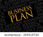 business plan word cloud ... | Shutterstock .eps vector #335515724