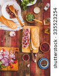 preparing pulled pork vegetable ... | Shutterstock . vector #335523254