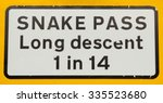 warning road sign for a long... | Shutterstock . vector #335523680