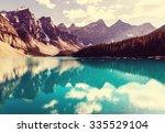 beautiful moraine lake in banff ... | Shutterstock . vector #335529104