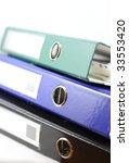 file folder isolated on white... | Shutterstock . vector #33553420