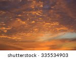 sunset sky | Shutterstock . vector #335534903