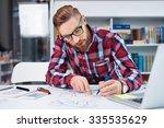 web designer creating layout...   Shutterstock . vector #335535629