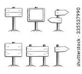 vector set of signposts | Shutterstock .eps vector #335537990