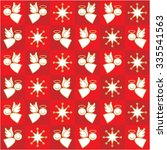 red christmas pattern | Shutterstock .eps vector #335541563