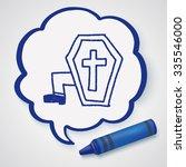 grave doodle drawing   Shutterstock . vector #335546000