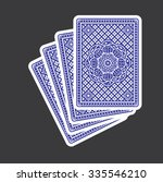 playing cards back  | Shutterstock .eps vector #335546210