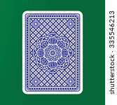 playing cards back  | Shutterstock .eps vector #335546213