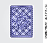 playing cards back  | Shutterstock .eps vector #335546243