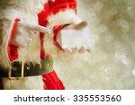 Santa Claus Holding Visit Card