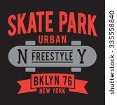 sport skate board typography  t ... | Shutterstock .eps vector #335558840