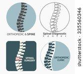 spine diagnostics center ... | Shutterstock .eps vector #335560346