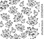 Black And White Lotus Vector...