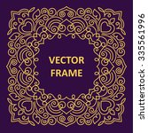 vintage frame for your text.... | Shutterstock .eps vector #335561996