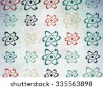 science concept  painted... | Shutterstock . vector #335563898