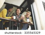 group business people chatting... | Shutterstock . vector #335565329