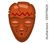Voodoo African Wooden Mask...