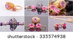 Small photo of selection of photos of gold and silver jewelry with alexandrite and ruby