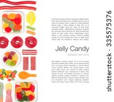 jelly candies on white... | Shutterstock . vector #335575376