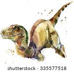 Постер, плакат: dinosaur drawing watercolor ancient