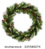 white card with christmas... | Shutterstock .eps vector #335580074