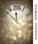 2016 new year sepia background... | Shutterstock .eps vector #335580116