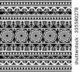 maori   polynesian style tattoo ... | Shutterstock .eps vector #335580278