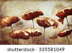 painting poppies with texture | Shutterstock . vector #335581049