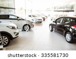 view of row new car at car... | Shutterstock . vector #335581730