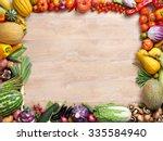 healthy eating background  ... | Shutterstock . vector #335584940