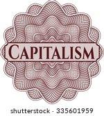 capitalism rosette | Shutterstock .eps vector #335601959