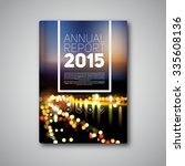 vector annual report 2015  book ... | Shutterstock .eps vector #335608136