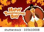 happy thanksgiving day  vector...   Shutterstock .eps vector #335610008