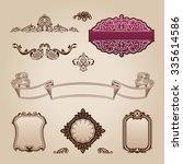 calligraphic elements vintage... | Shutterstock . vector #335614586