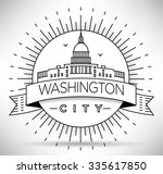 linear washington d.c. city...   Shutterstock .eps vector #335617850
