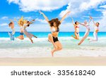 summer exercise under the sun  | Shutterstock . vector #335618240