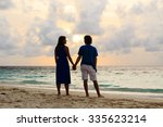 happy young romantic couple on... | Shutterstock . vector #335623214