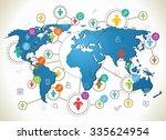 social network. various shapes... | Shutterstock .eps vector #335624954