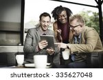 business team coffee shop... | Shutterstock . vector #335627048