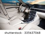 modern car interior with sunset ... | Shutterstock . vector #335637068