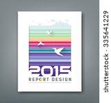 cover annual report flying... | Shutterstock .eps vector #335641229