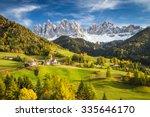 val di funes  trentino alto... | Shutterstock . vector #335646170