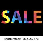 sale. colorful mosaic... | Shutterstock .eps vector #335652473