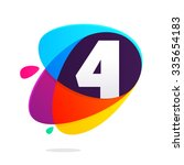 number four with ellipses... | Shutterstock .eps vector #335654183