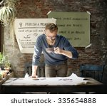 businessman determine ideas... | Shutterstock . vector #335654888